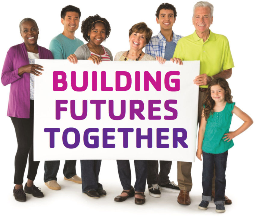 Building Futures Together Sign